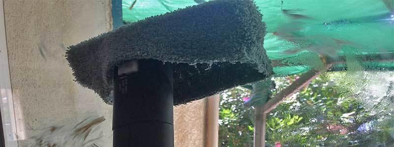 nettoyage de vitre avec un nettoyeur vapeur