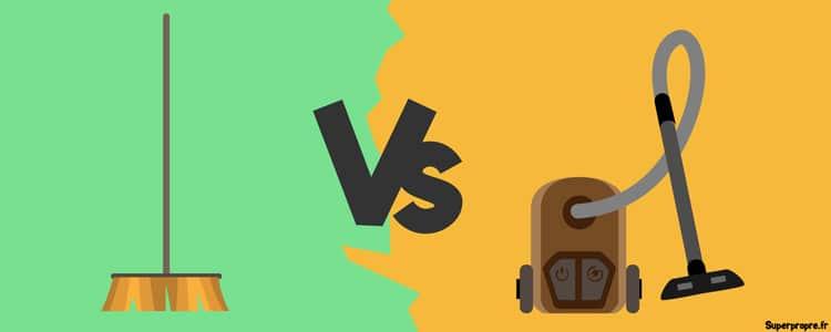 que choisir, aspirateur ou balai?